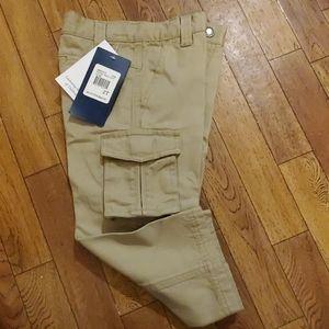Khaki cargo dress pants NWT